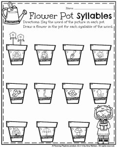 Syllable Worksheet for Kindergarten Beautiful Kindergarten Worksheets for May Planning Playtime