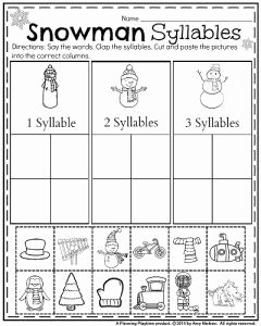 Syllable Worksheet for Kindergarten Best Of January Kindergarten Worksheets