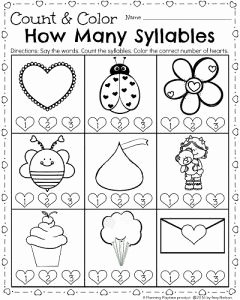 Syllable Worksheet for Kindergarten Fresh Kindergarten Math and Literacy Worksheets for February