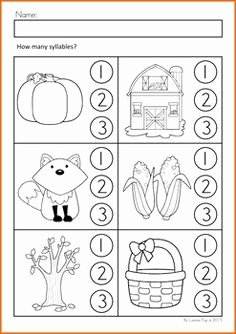 Syllable Worksheet for Kindergarten Lovely Fall Literacy Activities and Worksheets No Prep