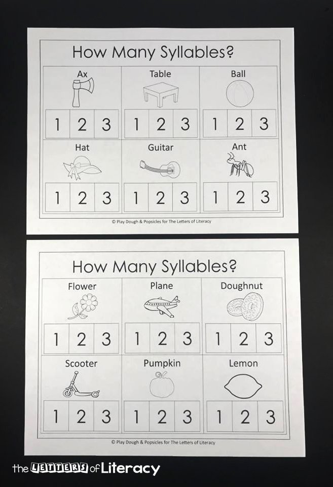 Syllable Worksheet for Kindergarten Lovely How Many Syllables A Syllable Counting Printable Pack