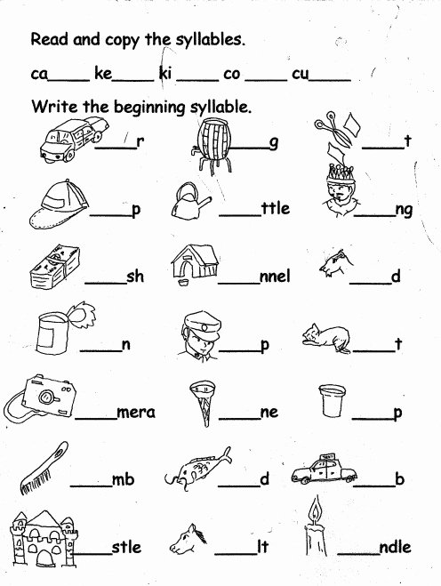 Syllable Worksheet for Kindergarten Lovely Kindergarten Tutorial Lessons Letter Kk Fun Activities