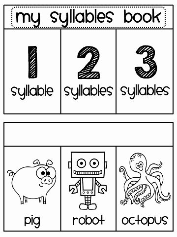 Syllable Worksheet for Kindergarten New Syllables sorting Book Kindergarten Literacy