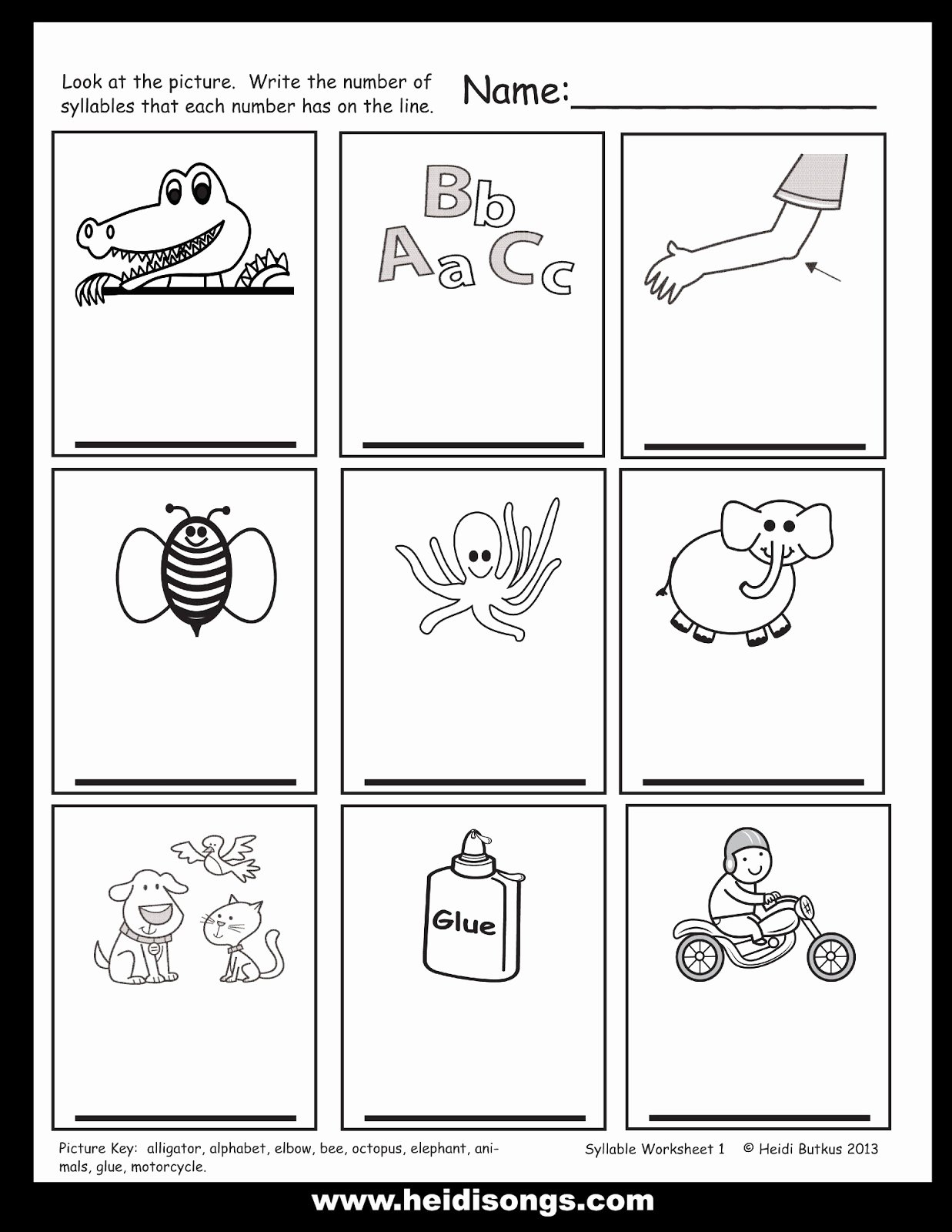 Syllables Worksheet for Kindergarten Beautiful How to Teach Syllable Counting and A Freebie