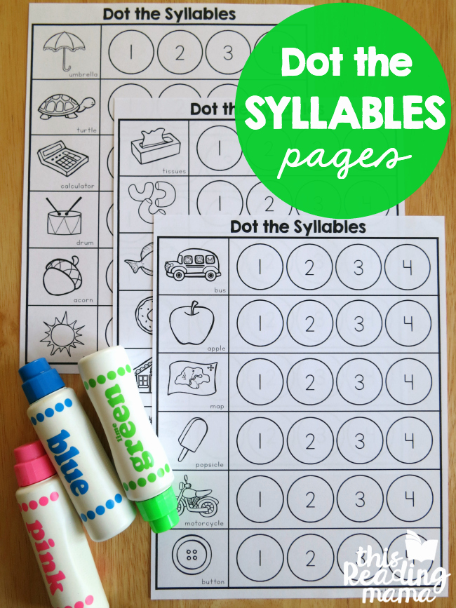 Syllables Worksheet for Kindergarten Beautiful Syllables Worksheets Dot the Syllables This Reading Mama