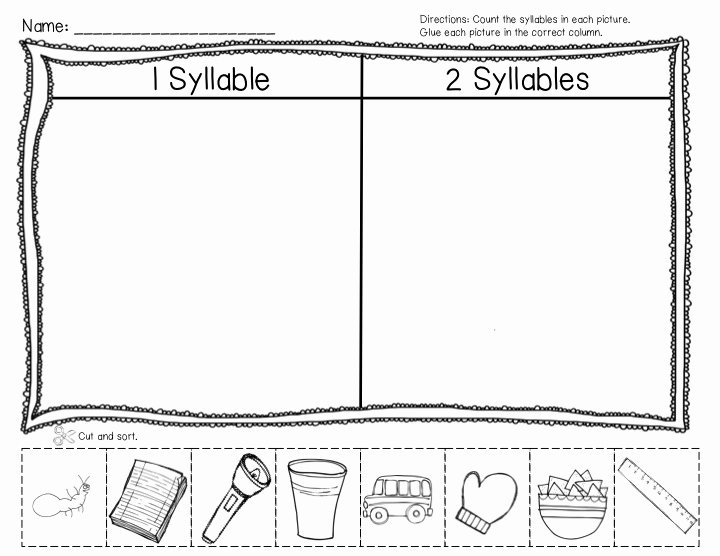 Syllables Worksheet for Kindergarten Best Of Teacher Laura Super Syllables