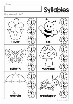 Syllables Worksheet for Kindergarten Elegant Spring Preschool Worksheets & Activities