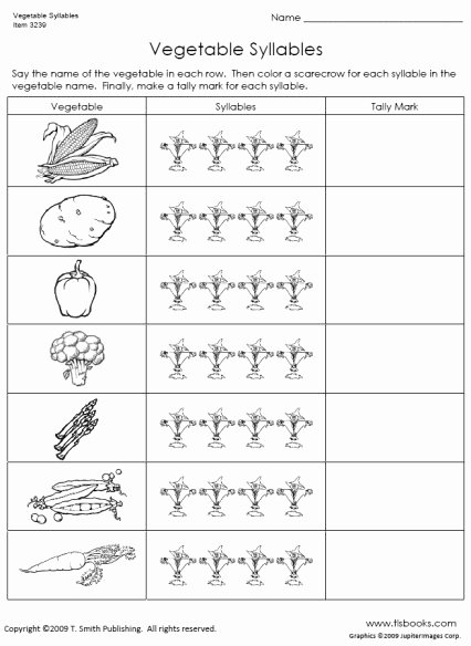 Syllables Worksheet for Kindergarten Fresh New 866 Counting Syllables Worksheets for Kindergarten