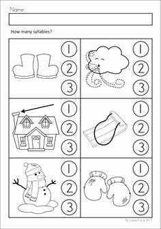 Syllables Worksheet for Kindergarten Fresh Snowflake Worksheets Preschool Google Pretraživanje