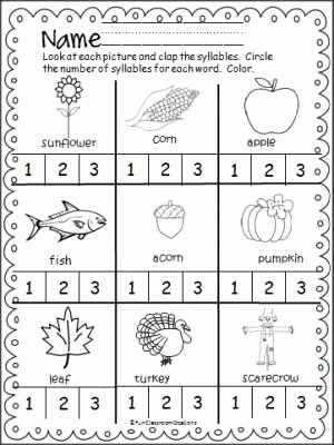 Syllables Worksheet for Kindergarten Inspirational Best 25 Syllables Kindergarten Ideas On Pinterest