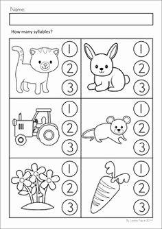 Syllables Worksheet for Kindergarten Inspirational Farm Math & Literacy Worksheets & Activities