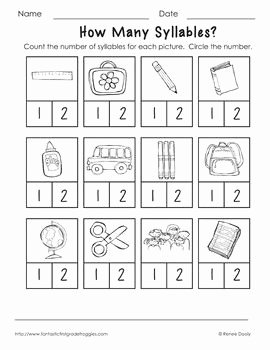 Syllables Worksheet for Kindergarten Inspirational Syllable Back to and Fun On Pinterest