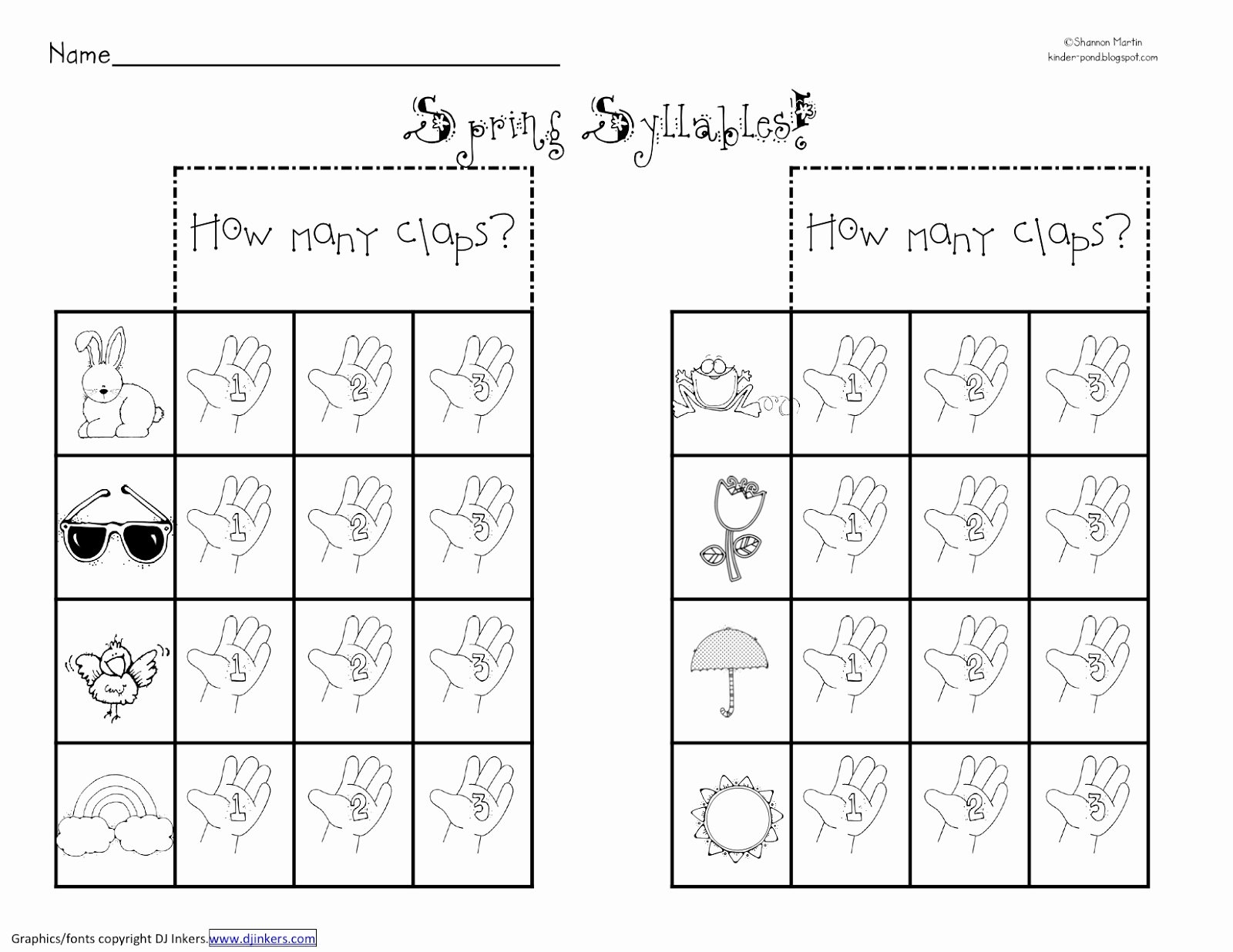 Syllables Worksheet for Kindergarten Luxury 8 Best Of Number Syllables Worksheet