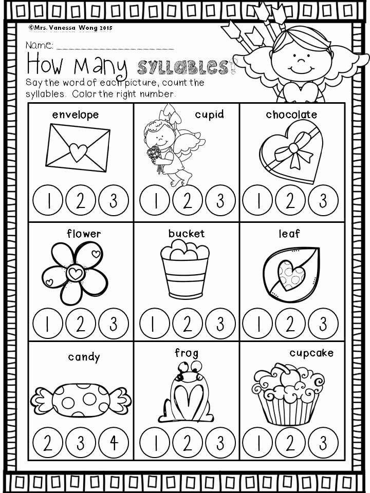 Syllables Worksheet for Kindergarten New 17 Best Images About Spring On Pinterest