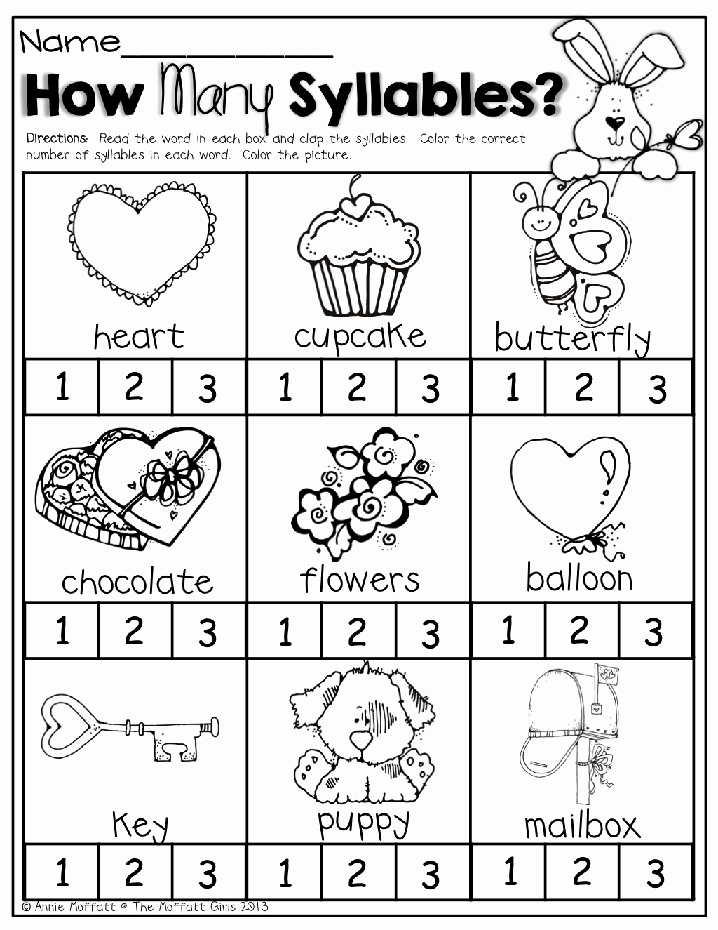 Syllables Worksheet for Kindergarten New February No Prep Packet Kindergarten