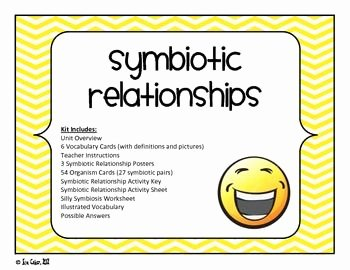 Symbiotic Relationships Worksheet Answers Awesome Stem Ecosystem Interspecific Relationships Symbiosis