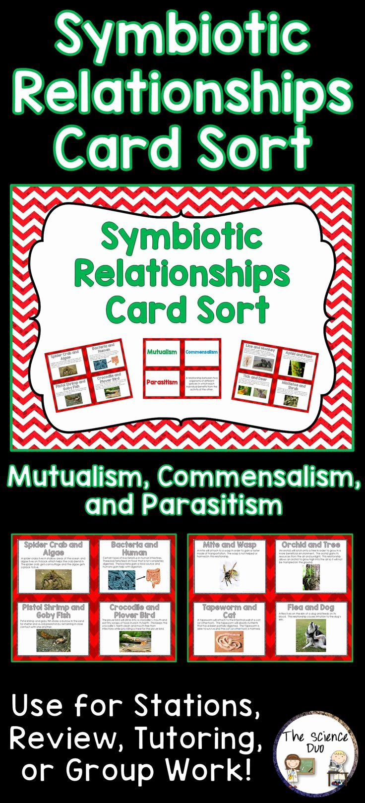 Symbiotic Relationships Worksheet Answers Best Of Symbiotic Relationships Card sort