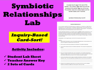 Symbiotic Relationships Worksheet Answers Luxury Inquiry Based Learning – Symbiotic Relationship Lab