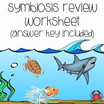 Symbiotic Relationships Worksheet Answers Luxury Symbiosis Review Worksheet Tpt Sellers