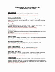 Symbiotic Relationships Worksheet Good Buddies Fresh Symbiosis Internet Worksheet organism Interaction and