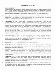Symbiotic Relationships Worksheet Good Buddies Luxury Symbiosis Internet Worksheet organism Interaction and