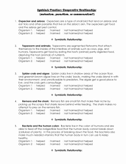 Symbiotic Relationships Worksheet Good Buddies Luxury which Symbiosis is It