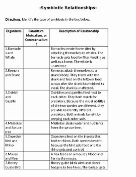 Symbiotic Relationships Worksheet Good Buddies New Good Bud S Symbiosis Worksheet by Brain Powered Science
