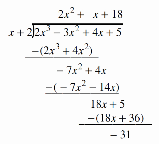 Synthetic Division Worksheet with Answers Luxury 3 5 Dividing Polynomials Mathematics Libretexts