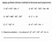 Synthetic Division Worksheet with Answers Luxury Factoring Polynomials Worksheets