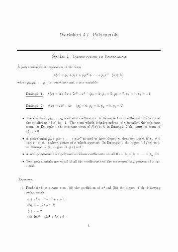 Synthetic Division Worksheet with Answers Luxury Synthetic Division Worksheet