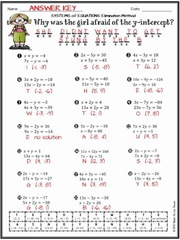 Systems Of Equations Elimination Worksheet Best Of solving Systems Of Equations Using the Elimination Method