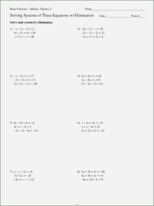 Systems Of Equations Elimination Worksheet Inspirational solving Systems Equations by Elimination Math Aids