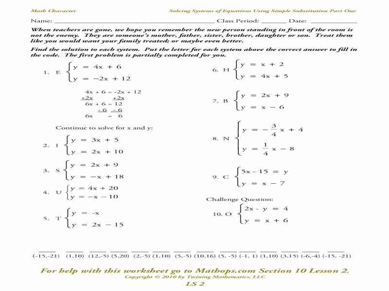 Systems Of Equations Elimination Worksheet Lovely solving Systems Equations by Elimination Worksheet