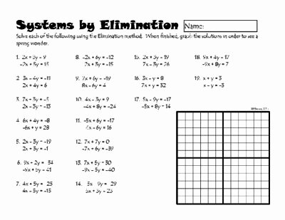 Systems Of Equations Elimination Worksheet Luxury 1071 Best 9th 12th Grade Images On Pinterest