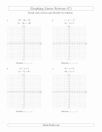 Systems Of Equations Graphing Worksheet Elegant solve Systems Of Linear Equations by Graphing Standard