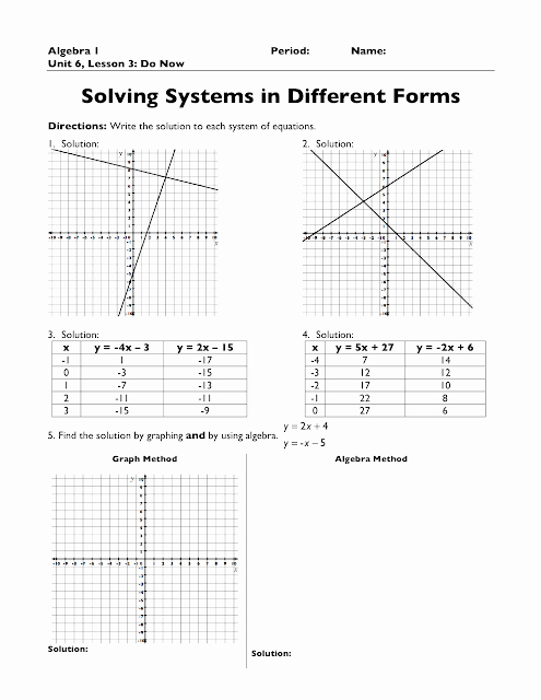 Systems Of Equations Practice Worksheet Fresh the Exponential Curve Algebra 1 Systems Of Equations