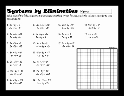 Systems Of Equations Practice Worksheet Inspirational Systems Of Linear Equations by Elimination From Dawnmbrown