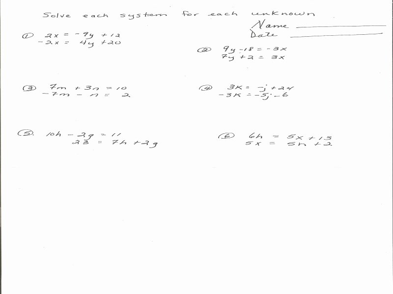 Systems Of Equations Review Worksheet Awesome Systems Equations Review Worksheet Free Printable