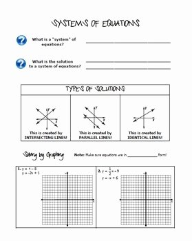 Systems Of Equations Review Worksheet Best Of Systems Of Equations Algebra 1