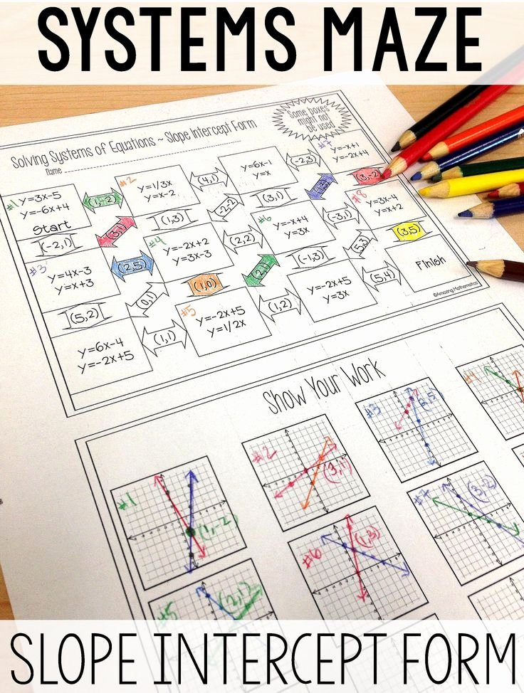 Systems Of Equations Review Worksheet Luxury 25 Best Ideas About Systems Equations On Pinterest