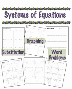 Systems Of Equations Review Worksheet Unique 1000 Images About Algebra Standards On Pinterest