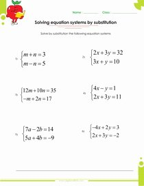 Systems Of Equations Substitution Worksheet Best Of Cramer S Rule In solving Systems Equations Sheets