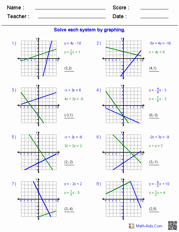 Systems Of Equations Worksheet Awesome Algebra Worksheets