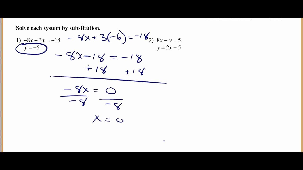 Systems Of Equations Worksheet Awesome solving Systems Of Equations by Substitution