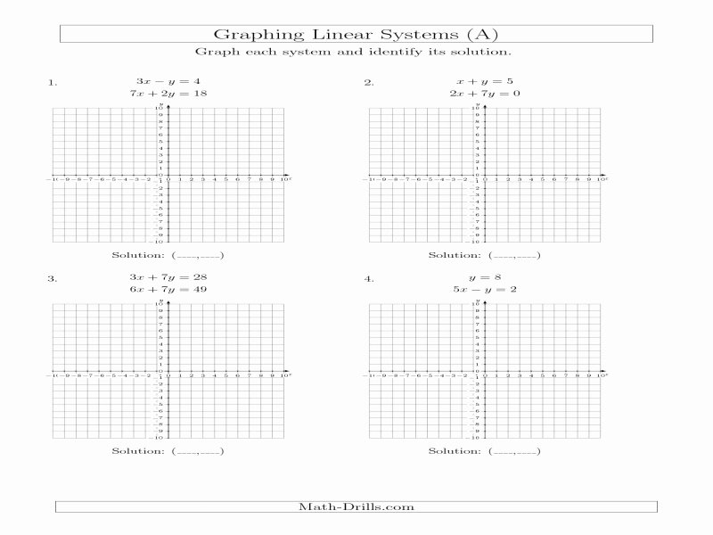 Systems Of Equations Worksheet Pdf Awesome Graphing Linear Equations Worksheet Pdf Free Printable