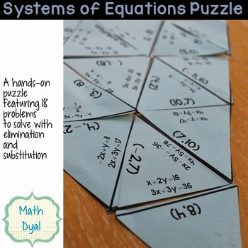 Systems Of Equations Worksheet Pdf Best Of solve Systems Of Equations Puzzle by Math Dyal