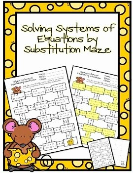 Systems Of Equations Worksheet Pdf Fresh solving Systems Of Equations by Substitution Maze by Ayers