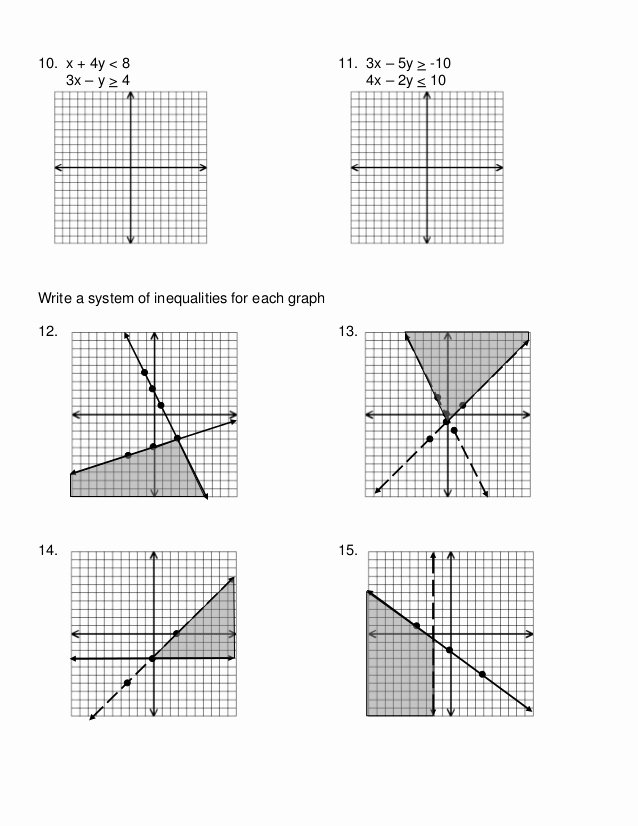 Systems Of Inequalities Worksheet Inspirational 7 6 Systems Of Inequalities Worksheet