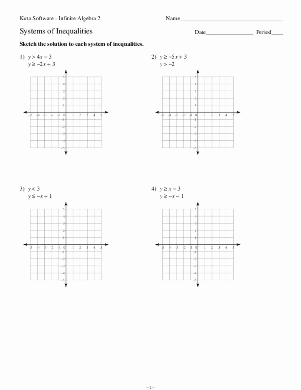 Systems Of Linear Inequalities Worksheet Fresh Systems Of Equations and Inequalities Collection