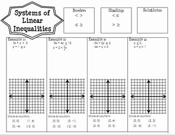 Systems Of Linear Inequalities Worksheet Lovely Systems Of Linear Inequalities Guided Notes